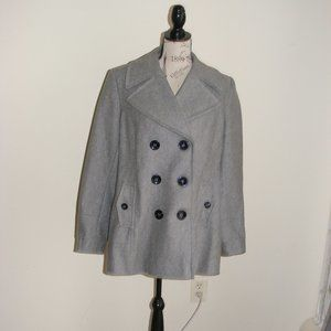 Donna Karan DKNY Gray Peacoat Jacket Size 14